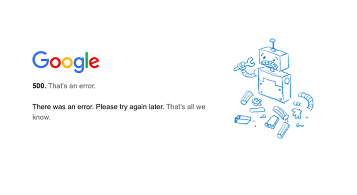 Google services outage and false bounce backs